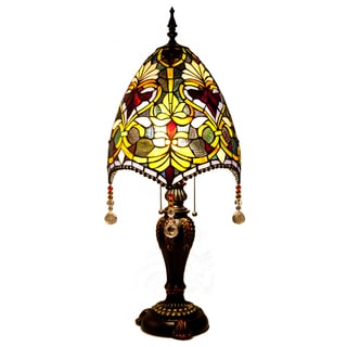 River of Goods Brianne's 30.5-inch Stained Glass Beaded Table Lamp