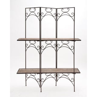 Cool Wood Metal Screen Shelf