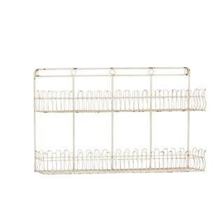 White Polished Metal Storage Shelf
