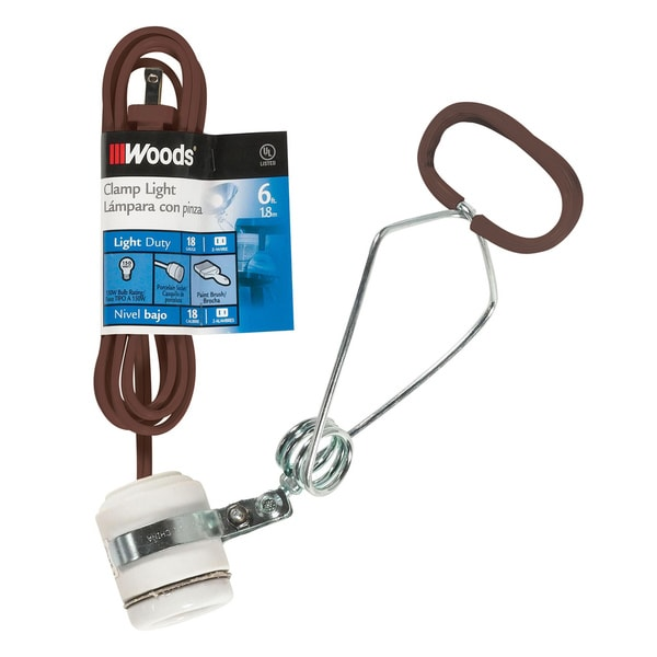 "Woods 00328 9"" X 6' 150 Watts Porcelain Socket Clamp"