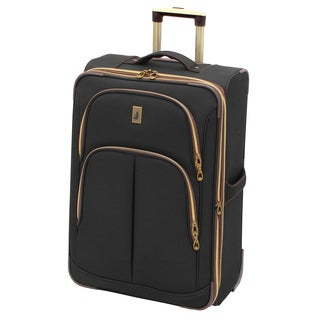 London Fog Coventry Collection Black 26-inch Expandable Rolling Upright Suitcase