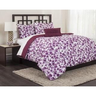 Carmel Plum 5-piece Comforter Set