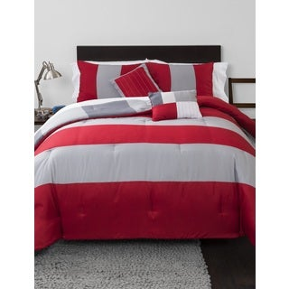 Rugby Stripe 5-piece Comforter Set