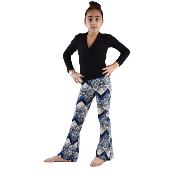 Kids' Ethnic Printed Soft Bell Bottom Pants