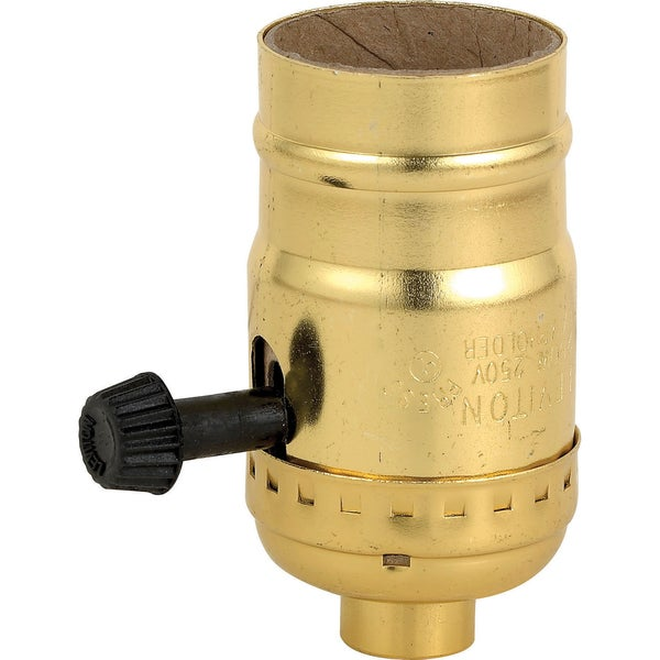 Leviton 051-7090-PG Polished Brass Three Way Lamp Sockets