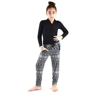 Dinamit Girl's Ethnic-printed Soft Bell Bottom Pants