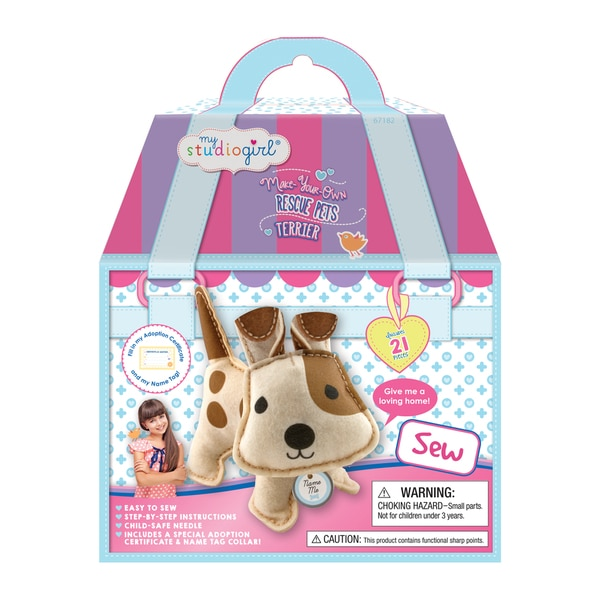 My Studio Girl Make-Your-Own Rescue Pets Terrier Crafting Kit 18683810