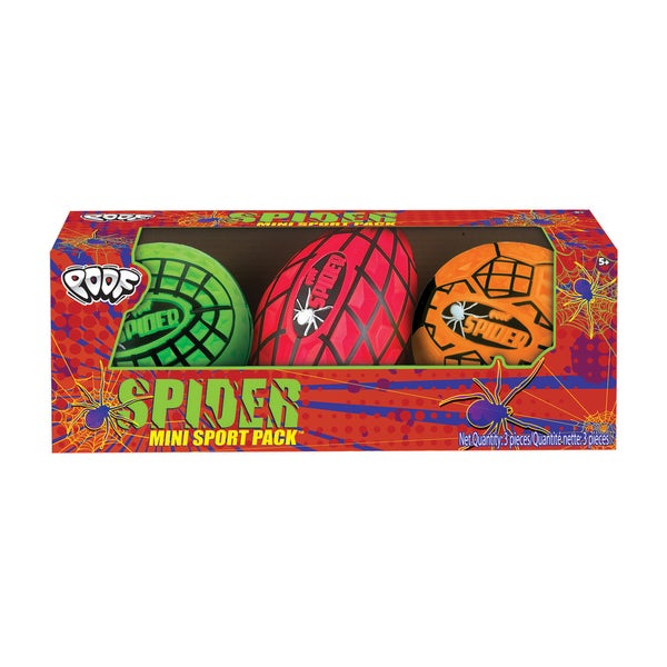 POOF Spider Mini Sport Pack Assorted Foam Balls