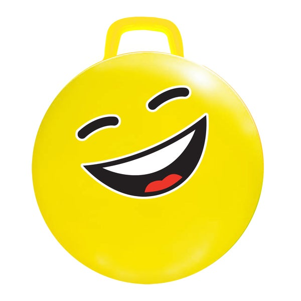 Yellow 18-inch #LOL Emoji Hop Hop Jumping Ball