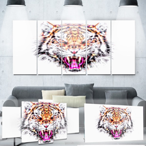 Designart 'Ferocious Feline' Animal Metal Wall Art