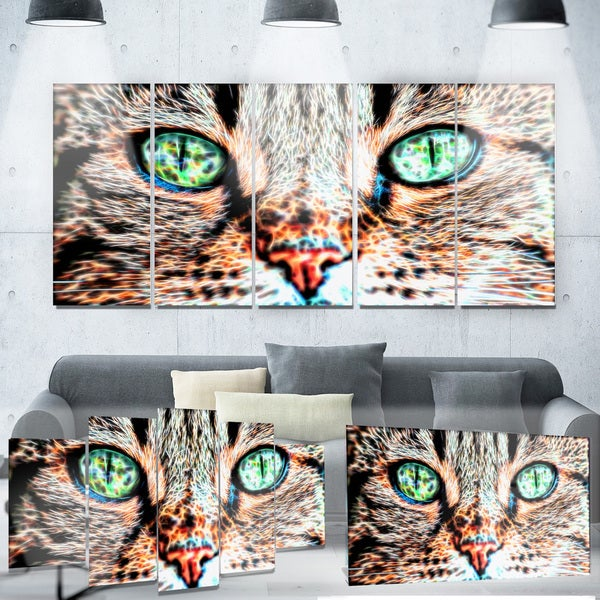 Designart 'Windows to the Soul' Cat Eyes Metal Wall Art