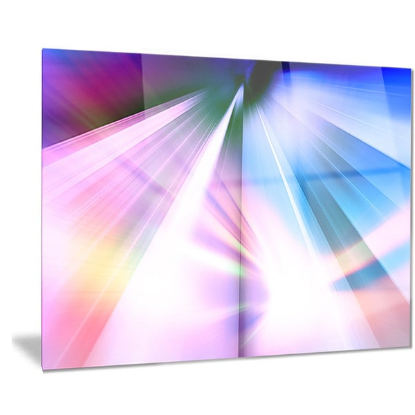 Designart 'Rays of Speed Blue' Abstract Digital Art Metal Wall Art 18688350