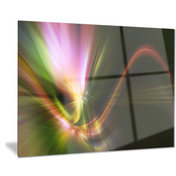 Designart 'Rays of Speed Green' Abstract Digital Art Metal Wall Art 18688366