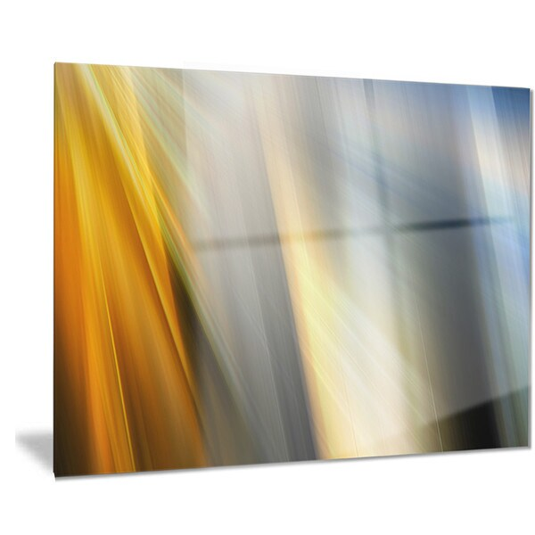 Designart 'Rays of Speed Vertical' Abstract Digital Art Metal Wall Art 18688373