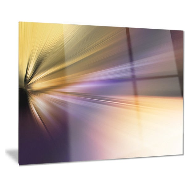 Designart 'Rays of Speed Purple Brown' Abstract Digital Metal Wall Art 18688433