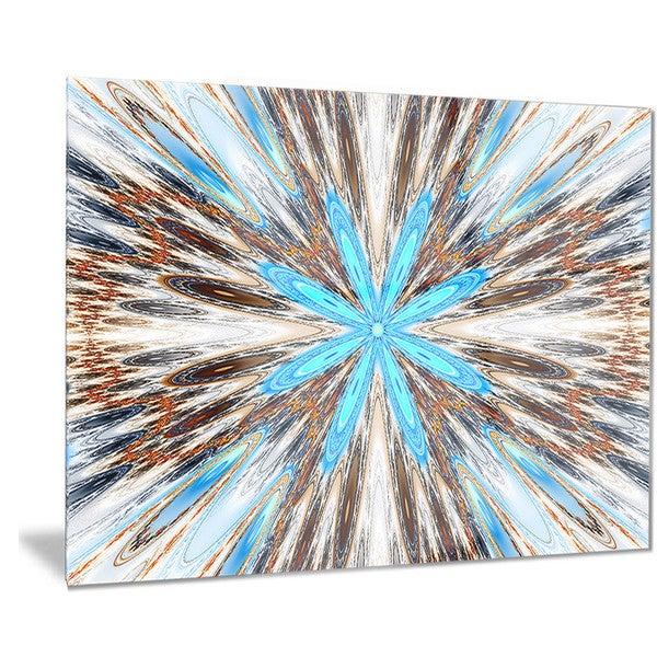 Designart 'Flowers with Radiating Rays' Abstract Digital Art Metal Wall Art 18688806