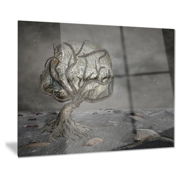 Designart 'Burden of Life' Abstract Digital Art Metal Wall Art