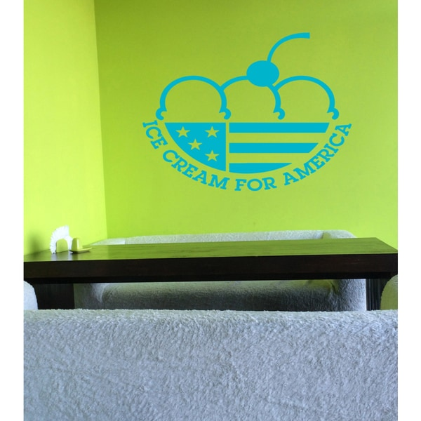 Ice Cream for America Wall Art Sticker Decal Blue