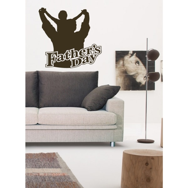 Father's Day father and son Wall Art Sticker Decal Brown