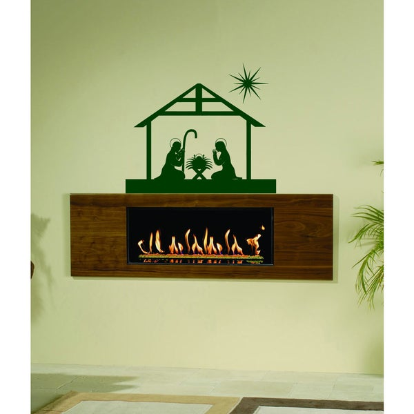The divine birth of Christ Wall Art Sticker Decal Green