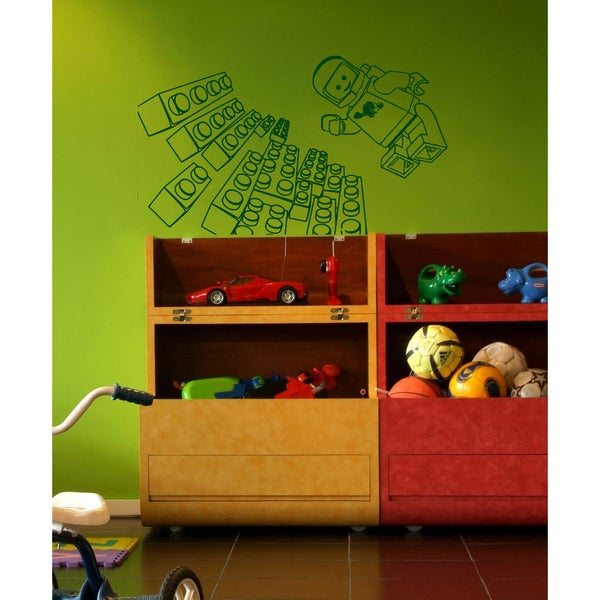 Lego man Wall Art Sticker Decal Green