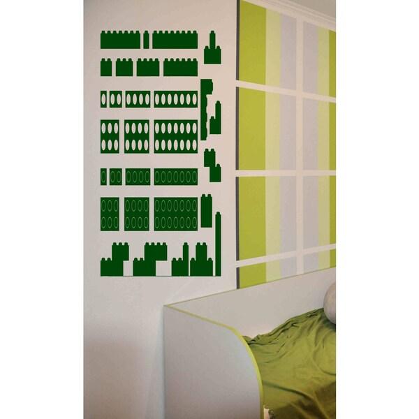 Constructor toy Wall Art Sticker Decal Green