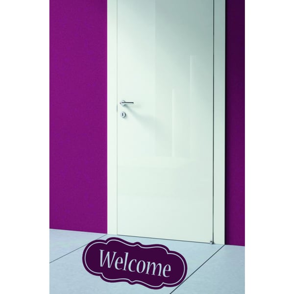 In the hall Inscription welcome Wall Art Sticker Decal Pink