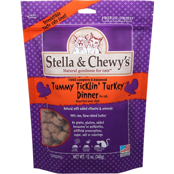 Stella & Chewys Freeze-dried All-natural Cat Food (Turkey Formula)