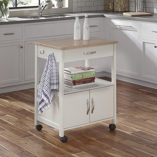 The Banner White Wooden Kitchen Cart