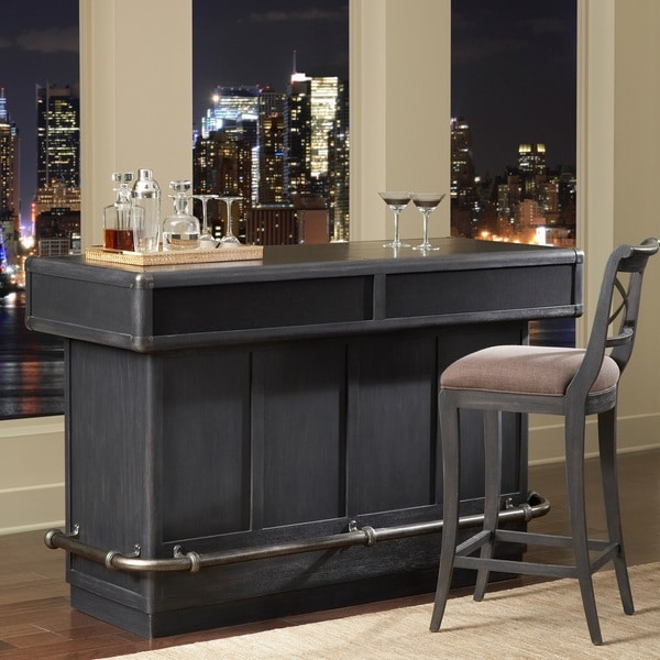 Classico Wood Bar in Charcoal Finish