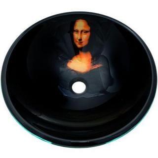 Mona Lisa Vessel Sink with Pop-up Drain