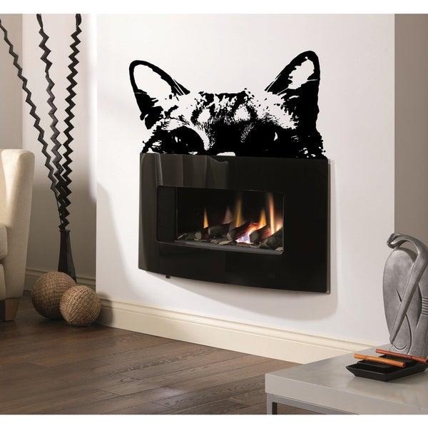 Cat spying Wall Art Sticker Decal