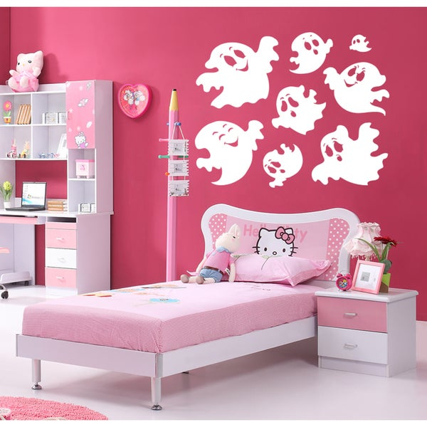 Funny ghosts Wall Art Sticker Decal White 18691486