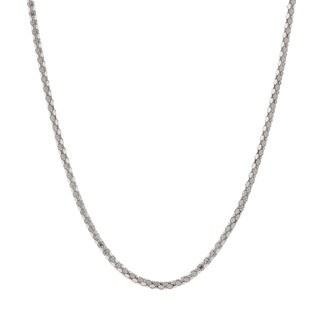 Pori Italian Sterling Silver Diamond-cut Coreana Chain Necklace