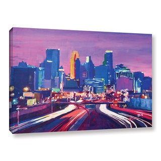 Marcus/Martina Bleichner's 'Minneapolis Skyline At Night Minnesota' Gallery Wrapped Canvas