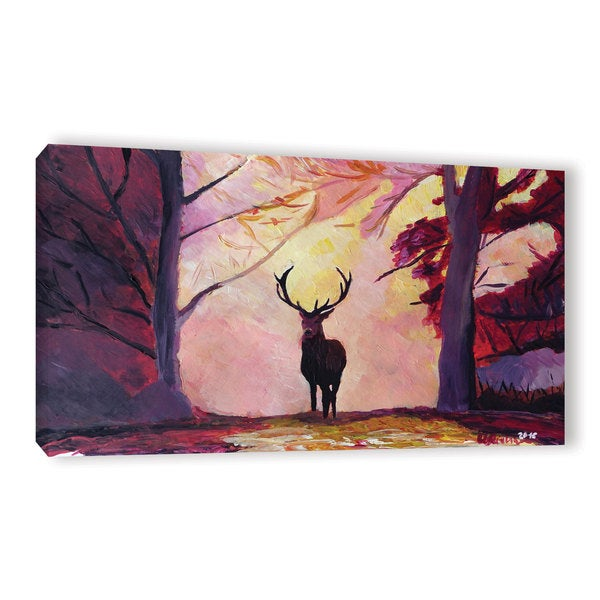 Marcus/Martina Bleichner's 'The Deer Coming From The Glade' Gallery Wrapped Canvas