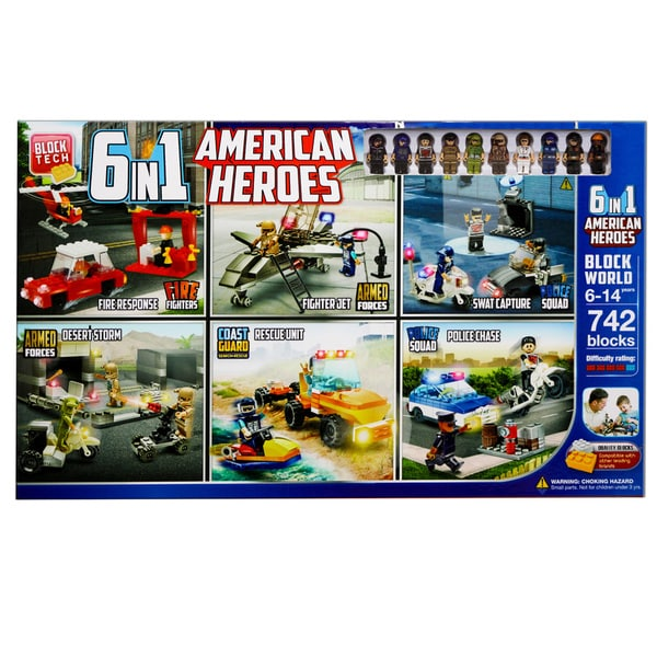 RMS Block Tech 6-in-1 American Hero Play Set