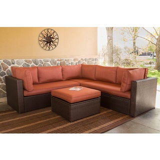 Somette 4 Piece Outdoor Woven Sectional