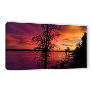 Mark Goodhew's 'Winterlake Sunset' Gallery Wrapped Canvas