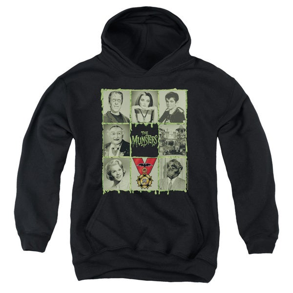 Munsters/Blocks Youth Pull-Over Hoodie in Black