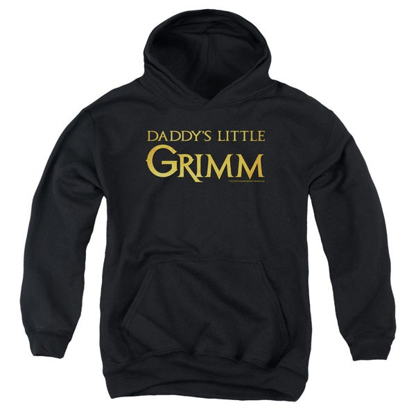 Grimm/Daddys Little Grimm Youth Pull-Over Hoodie in Black
