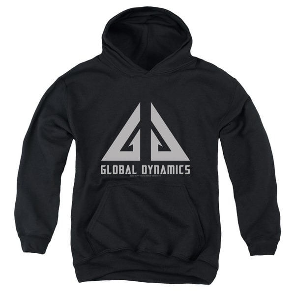 Eureka/Global Dynamics Logo Youth Pull-Over Hoodie in Black