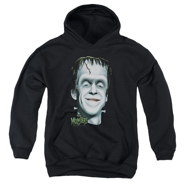 The Munsters/Herman's Head Youth Pull-Over Hoodie in Black
