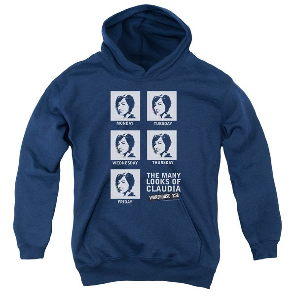 Warehouse 13/Many Looks Youth Pull-Over Hoodie in Navy