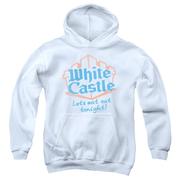 White Castle/Lets Eat Youth Pull-Over Hoodie in White