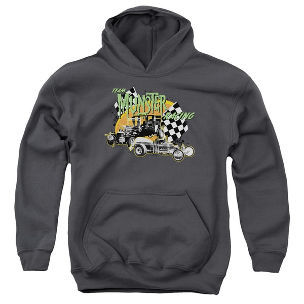 The Munsters/Munster Racing Youth Pull-Over Hoodie in Charcoal