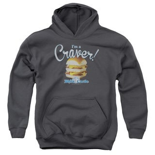 White Castle/Craver Youth Pull-Over Hoodie in Charcoal