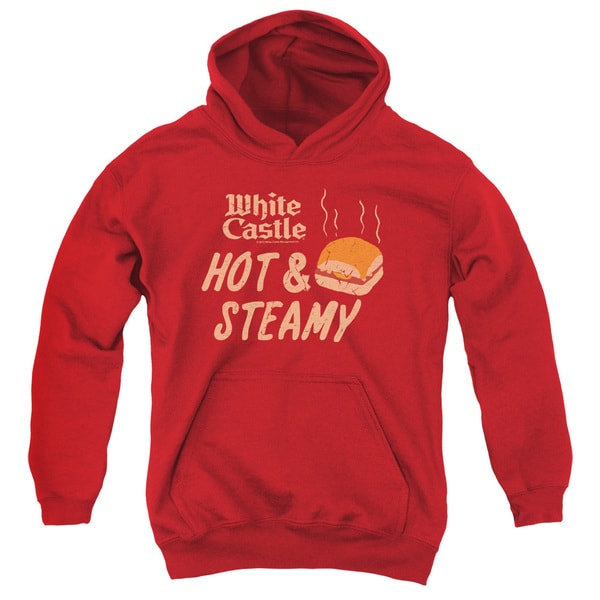 White Castle/Hot & Steamy Youth Pull-Over Hoodie in Red