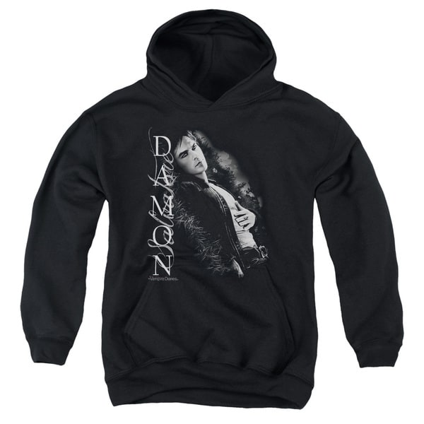 Vampire Diaries/Besides Me Youth Pull-Over Hoodie in Black