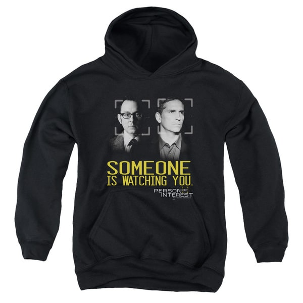 Person Of Interest/Someone Youth Pull-Over Hoodie in Black